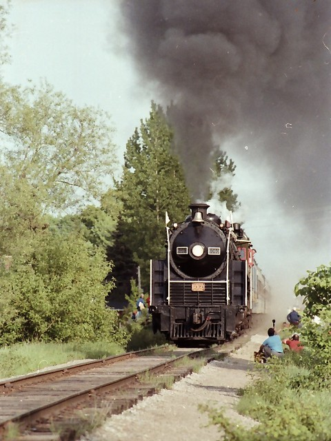 CNR 6060 on a fan trip with the Upper Canada Railway Society out of Toronto. This picture was taken and submitted by Massey F. Jones.