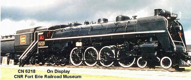 CN 6218 on display at the Fort Erie railroad museum