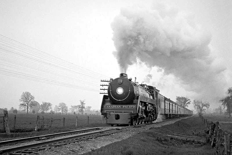 Image result for cpr northern steam locomotive in manitoba
