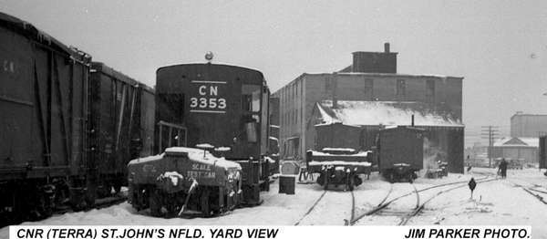 CNR (TERRA) St. John's NFLD Yard. Photo taken and submitted by Jim Parker.